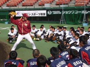 楽天イーグルス野球教室の様子4