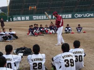 楽天イーグルス野球教室の様子5