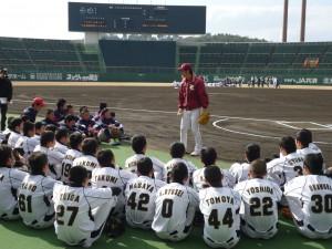 楽天イーグルス野球教室の様子3