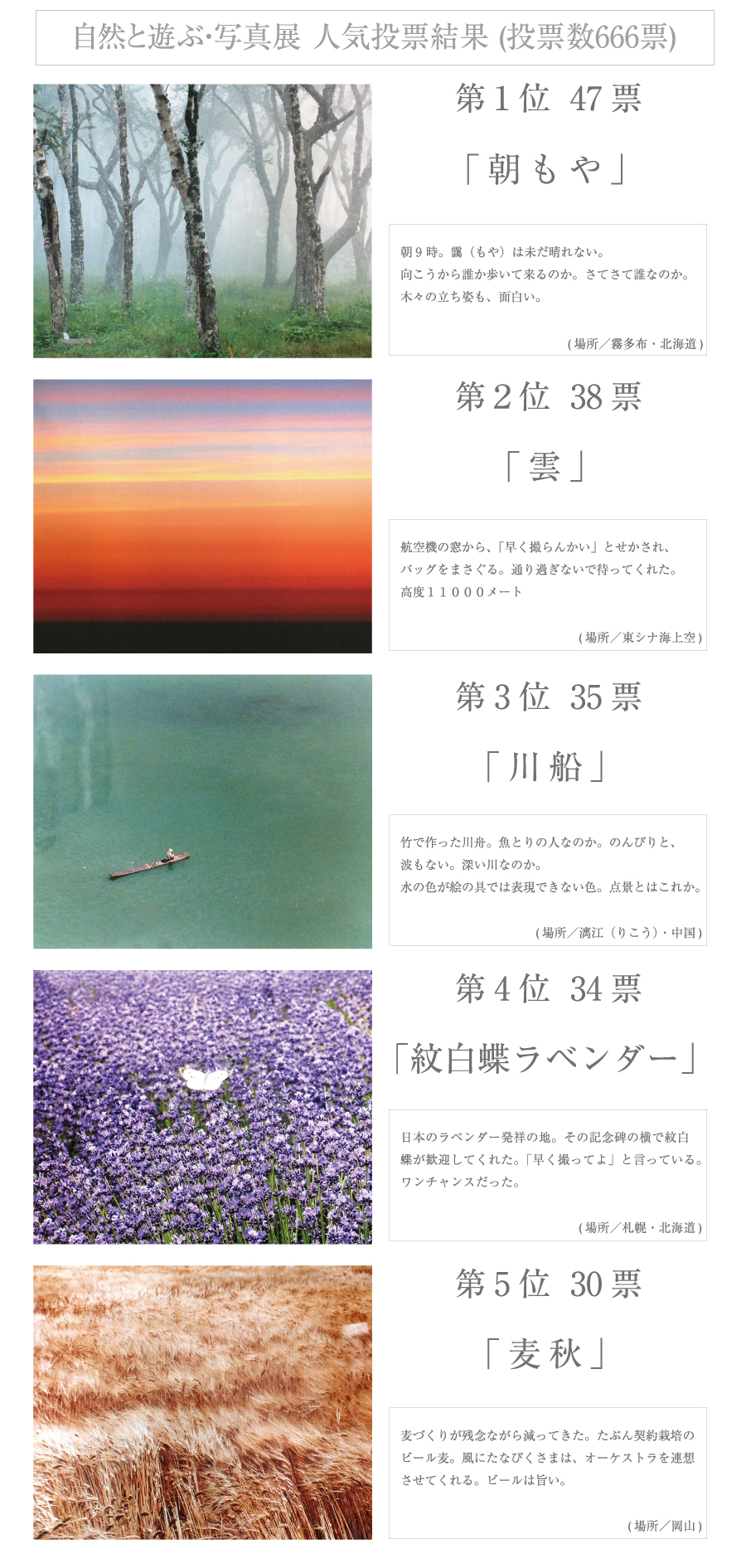 創立10周年の記念【表彰者色紙展 /自然と遊ぶ・写真展】3